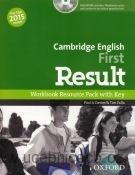 Cambridge English First Result Workbook + key + CD